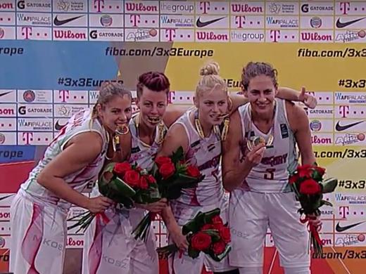 3x3 Európa Bajnok a Magyar női válogatott